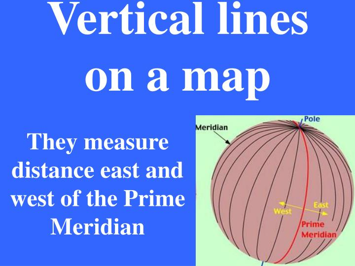 Vertical lines    on a map