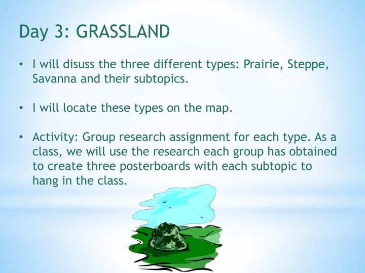 Day 3: GRASSLAND