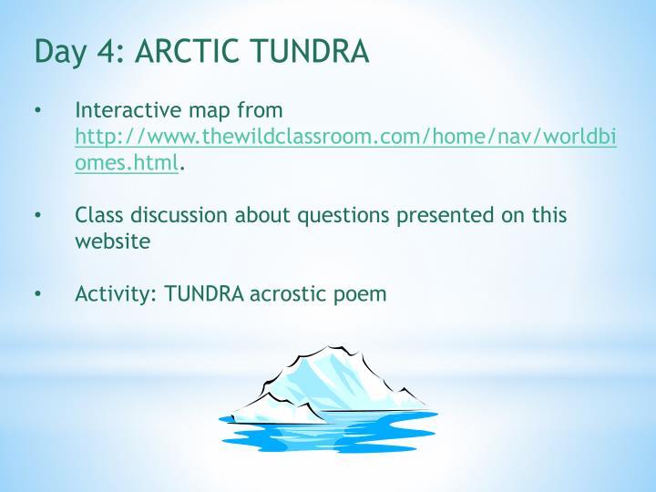 Day 4: ARCTIC TUNDRA