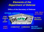 elements of the department of defense
