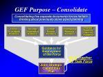 gef purpose consolidate guidance
