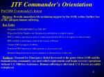 jtf commander s orientation