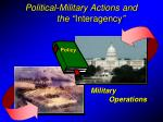 political military actions and the interagency