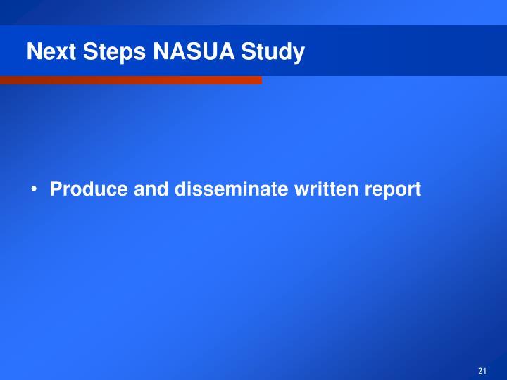 Next Steps NASUA Study