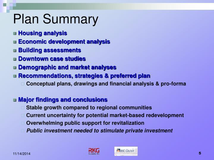 Plan Summary