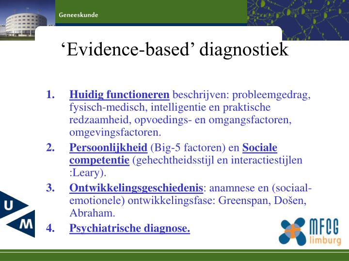'Evidence-based' diagnostiek