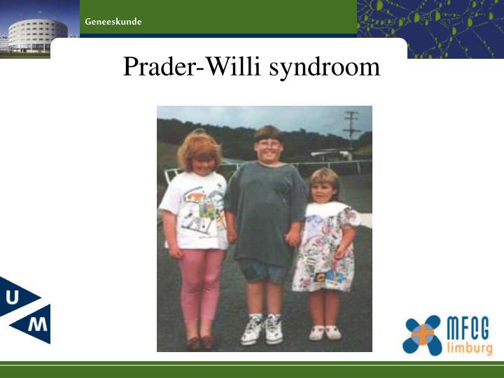 Prader-Willi syndroom