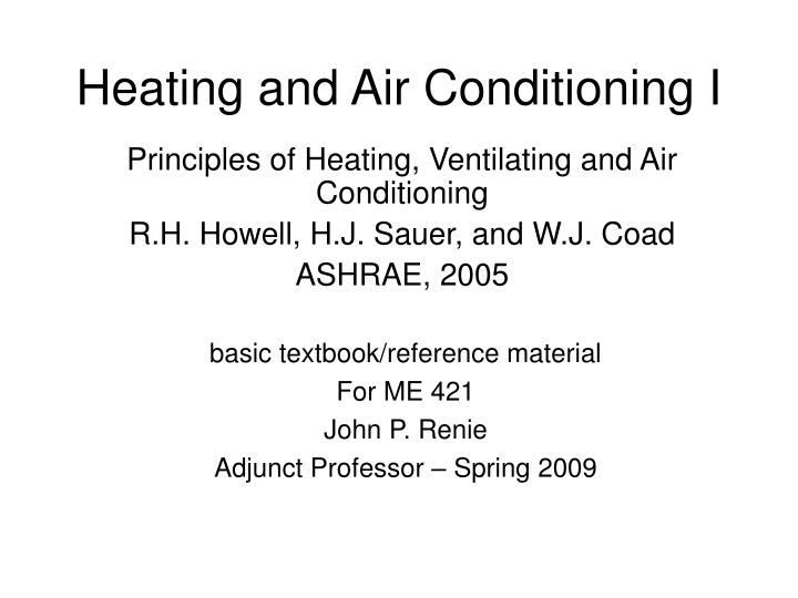 heating and air conditioning i n.