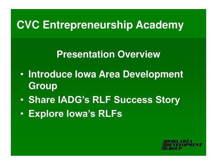 Cvc entrepreneurship academy