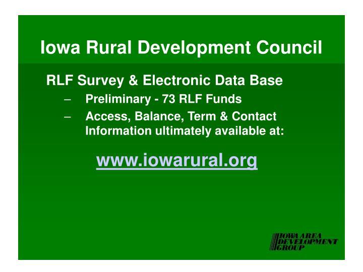 Iowa Rural Development Council