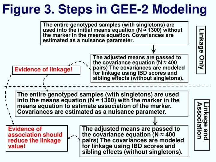 Figure 3. Steps in GEE-2 Modeling