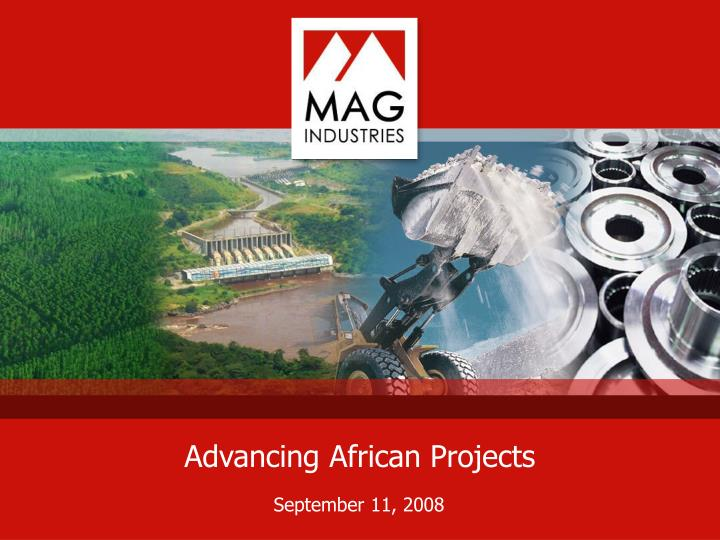 Advancing african projects