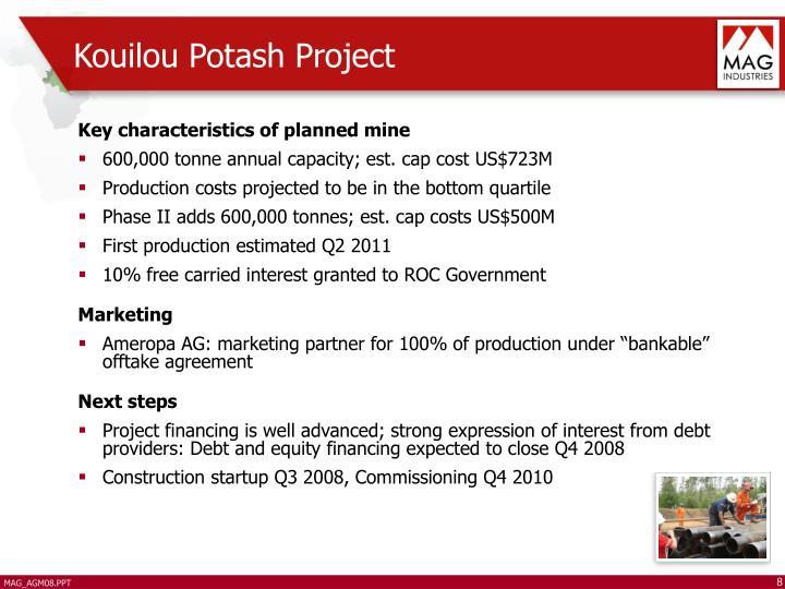 Kouilou Potash Project