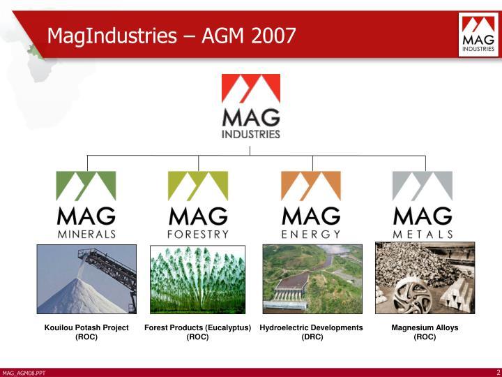 Magindustries agm 2007