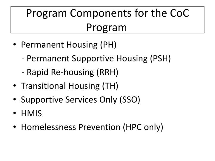 Program Components for the