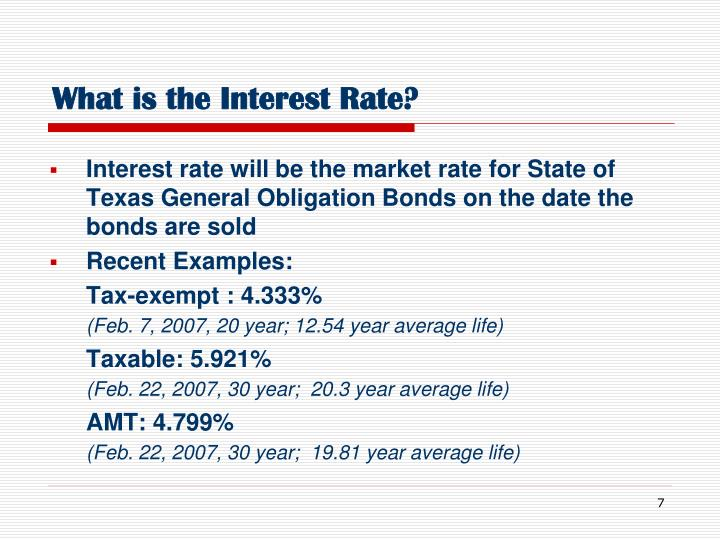 What is the Interest Rate?
