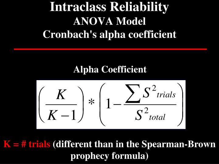 Intraclass Reliability