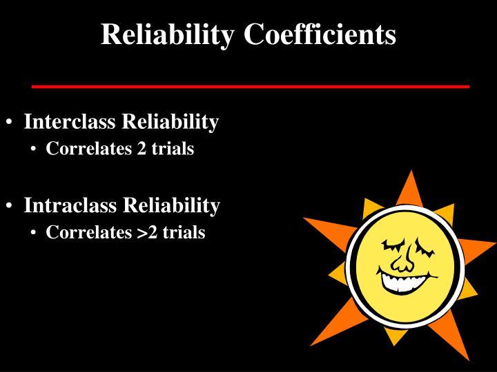 Reliability Coefficients