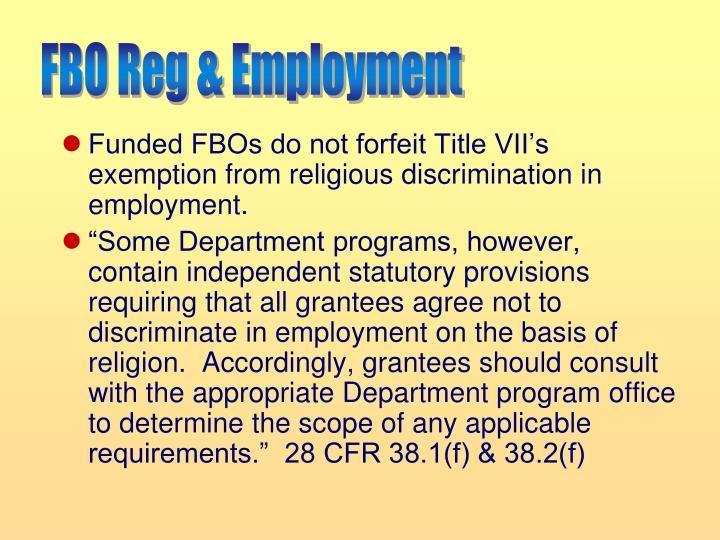 FBO Reg & Employment