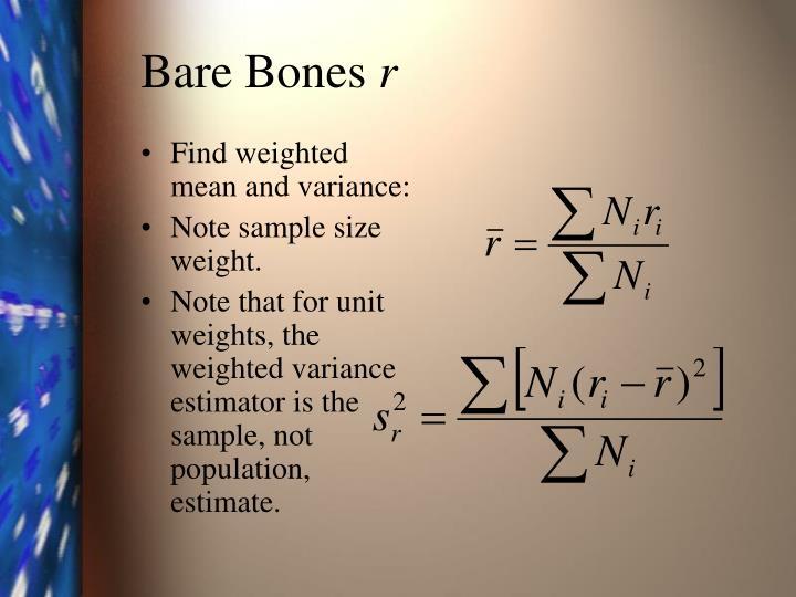 Bare bones r