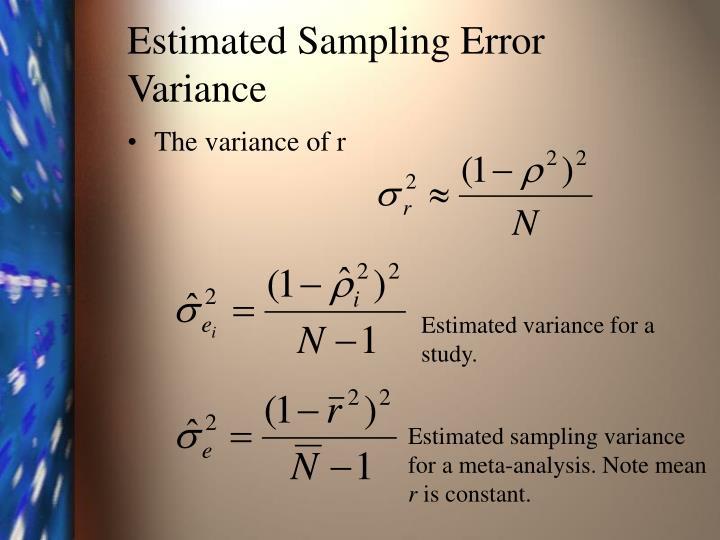 Estimated Sampling Error Variance