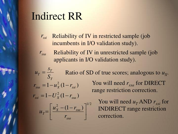 Indirect RR