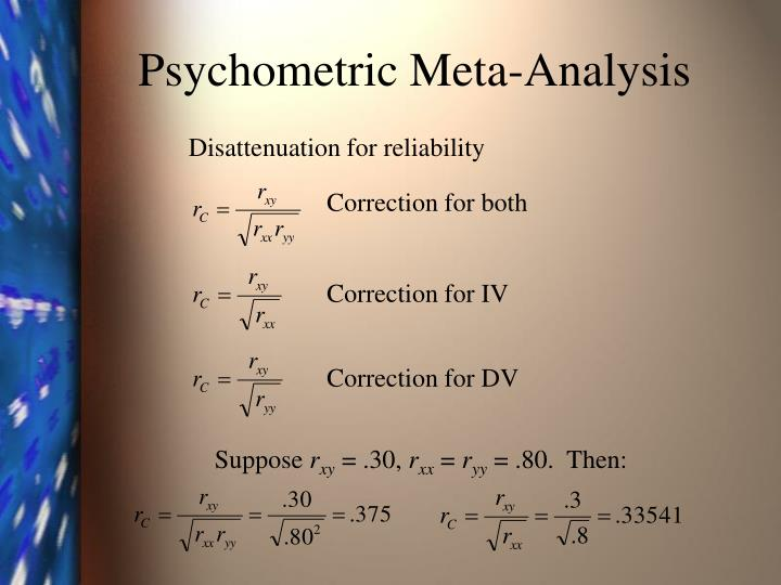 Psychometric Meta-Analysis