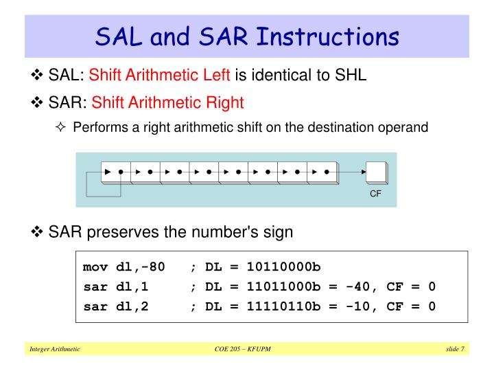 SAL and SAR Instructions