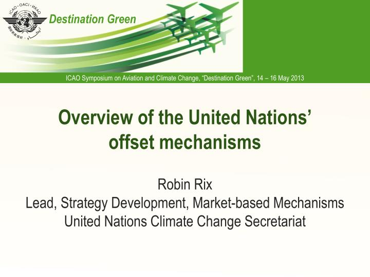overview of the united nations offset mechanisms n.
