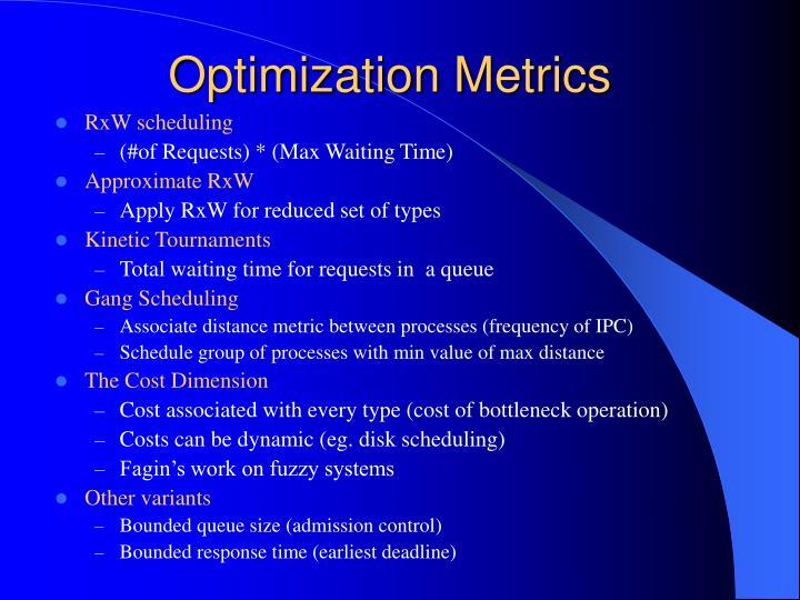 Optimization Metrics