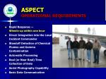 aspect operational requirements