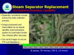 steam separator replacement old radiation detection capability