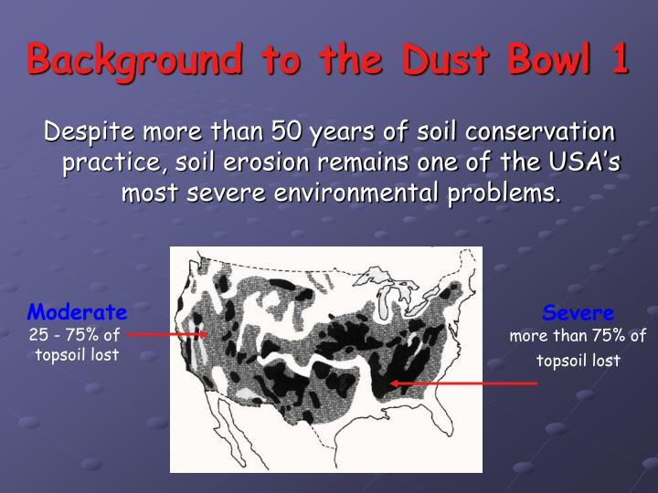 Background to the dust bowl 1