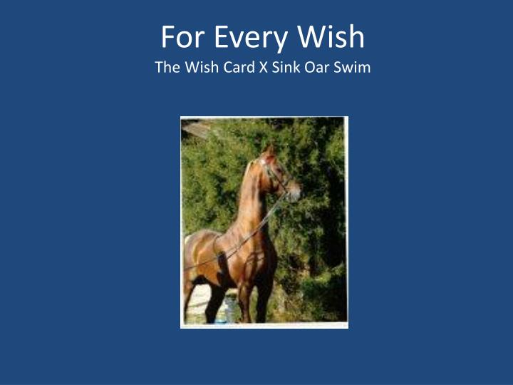 For Every Wish