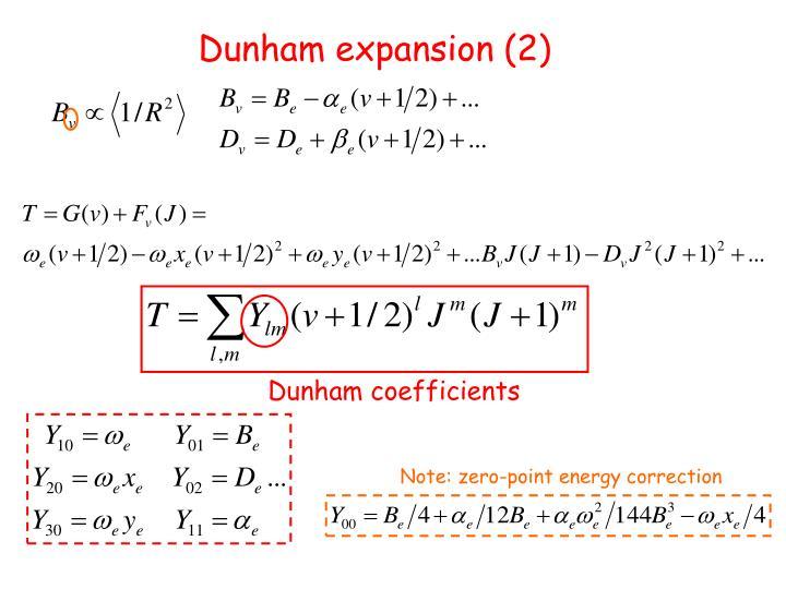 Dunham expansion (2)