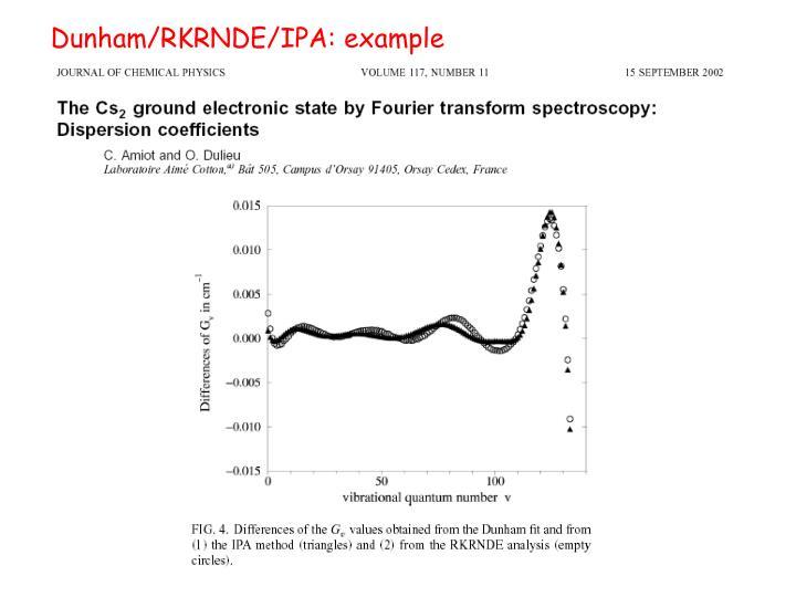 Dunham/RKRNDE/IPA: example