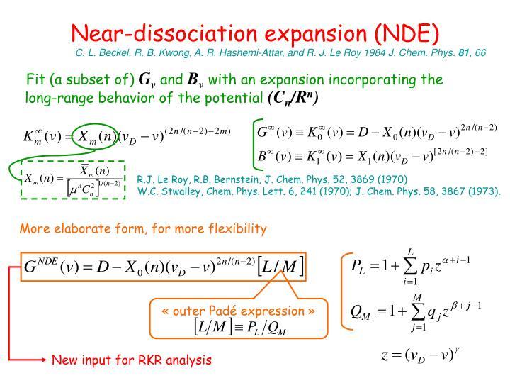 Near-dissociation expansion (NDE)