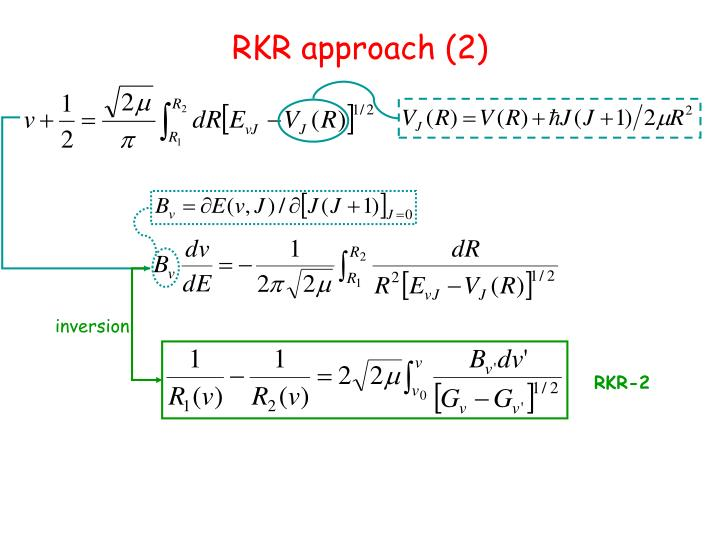 RKR approach (2)
