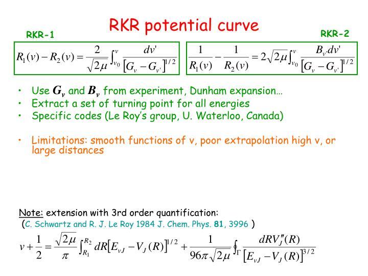 RKR potential curve