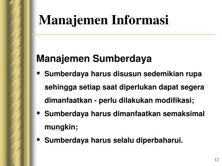 Manajemen Sumberdaya