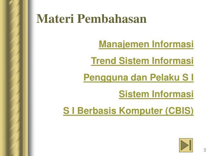 Manajemen Informasi