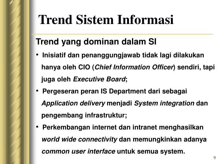 Trend yang dominan dalam SI
