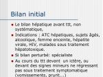 bilan initial1
