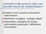 comment le bk arrive cr er une nouvelle source de contamination