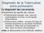 diagnostic de la tuberculose extra pulmonaire