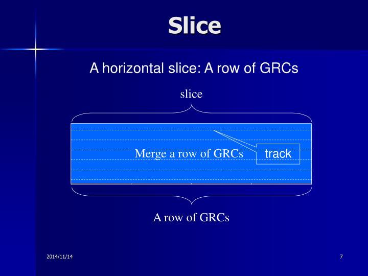 Merge a row of GRCs