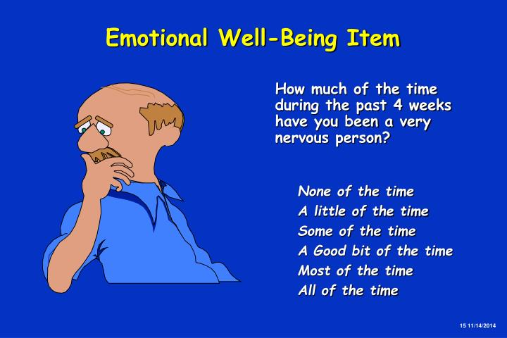 Emotional Well-Being Item