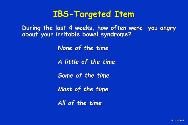 IBS-Targeted Item