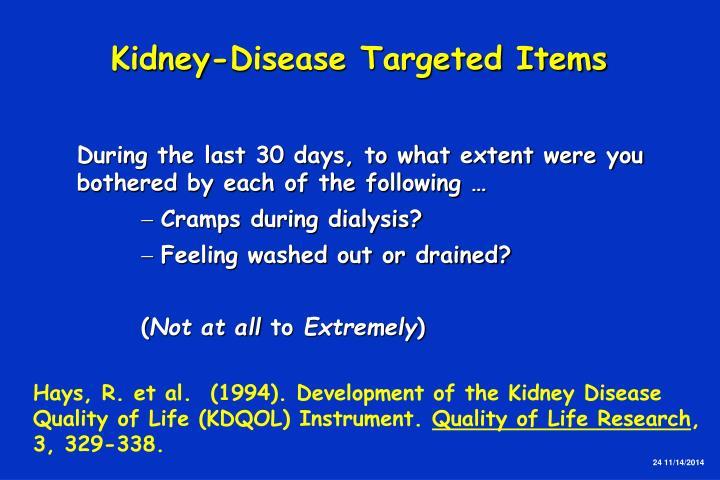 Kidney-Disease Targeted Items