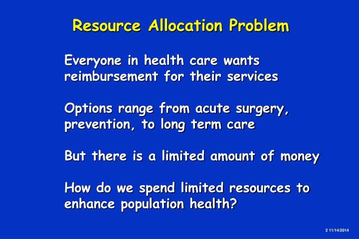 Resource Allocation Problem